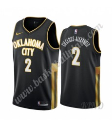 Oklahoma City Thunder Trikot Kinder 2019-20 Shai Gilgeous-Alexander 2# Schwarz City Edition NBA Trik..
