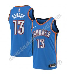 Oklahoma City Thunder Trikot Kinder 2019-20 Paul George 13# Blau Icon Edition NBA Trikots Swingman..