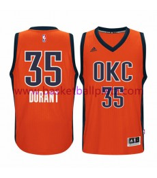 Oklahoma City Thunder Trikot Herren 15-16 Kevin Durant 35# Orange Alternate Basketball Trikot Swingm..