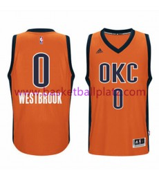 Oklahoma City Thunder Trikot Herren 15-16 Russell Westbrook 0# Orange Alternate Basketball Trikot Swingman