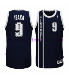 Oklahoma City Thunder Trikot Herren 15-16 Serge Ibaka 9# Blue Alternate Basketball Trikot Swingman