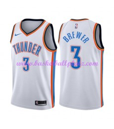 Oklahoma City Thunder Trikot Herren 2018-19 Corey Brewer 3# Association Edition Basketball Trikots N..