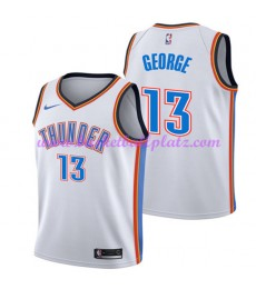 Oklahoma City Thunder Trikot Herren 2018-19 Paul George 13# Association Edition Basketball Trikots NBA Swingman