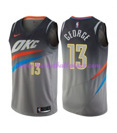 Oklahoma City Thunder Trikot Herren 2018-19 Paul George 13# City Edition Basketball Trikots NBA Swin..
