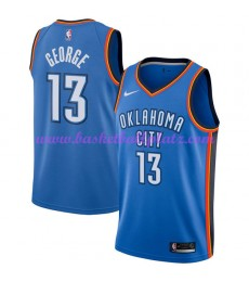 Oklahoma City Thunder Trikot Herren 2018-19 Paul George 13# Icon Edition Basketball Trikots NBA Swingman