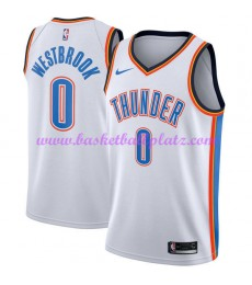 Oklahoma City Thunder Trikot Herren 2018-19 Russell Westbrook 0# Association Edition Basketball Trik..