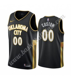 Oklahoma City Thunder Trikot Herren 2019-20 Schwarz City Edition Basketball Trikots NBA Swingman..