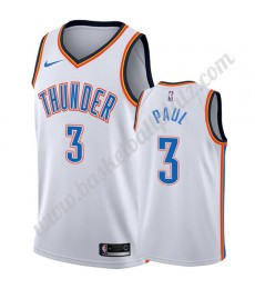Oklahoma City Thunder Trikot Herren 2019-20 Chris Paul 3# Weiß Association Edition Basketball Trikots NBA Swingman