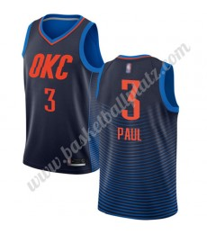 Oklahoma City Thunder Trikot Herren 2019-20 Chris Paul 3# Blau Statement Edition Basketball Trikots ..