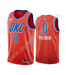 Oklahoma City Thunder Trikot Herren 2019-20 Danilo Gallinari 8# Orange Statement Edition Basketball ..