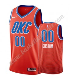 Oklahoma City Thunder Trikot Herren 2019-20 Orange Statement Edition Basketball Trikots NBA Swingman..