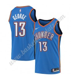 Oklahoma City Thunder Trikot Herren 2019-20 Paul George 13# Blau Icon Edition Basketball Trikots NBA..