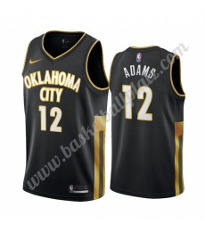 Oklahoma City Thunder Trikot Herren 2019-20 Steven Adams 12# Schwarz City Edition Basketball Trikots..