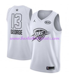 Oklahoma City Thunder Trikot Herren Paul George 13# Weiß 2018 NBA All Star Game Basketball Trikots Swingman