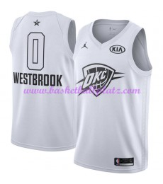 Oklahoma City Thunder Trikot Herren Russell Westbrook 0# Weiß 2018 NBA All Star Game Basketball Trikots Swingman