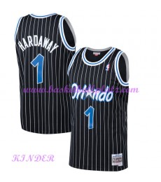 Orlando Magic NBA Trikot Kinder 1994-95 Penny Hardaway 1# Schwarz Hardwood Classics Basketball Triko..