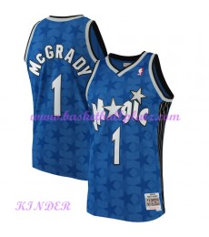 Orlando Magic NBA Trikot Kinder 2001-02 Tracy McGrady 1# Blau Hardwood Classics Basketball Trikots S..