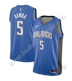 Orlando Magic Trikot Kinder 2019-20 Mohamed Bamba 5# Blau Icon Edition NBA Trikots Swingman..