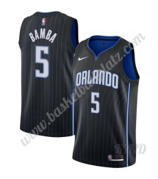 Orlando Magic Trikot Kinder 2019-20 Mohamed Bamba 5# Schwarz Icon Edition NBA Trikots Swingman..