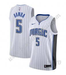 Orlando Magic Trikot Kinder 2019-20 Mohamed Bamba 5# Weiß Association Edition NBA Trikots Swingman..