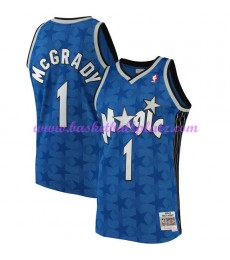 Orlando Magic Herren 2001-02 Tracy McGrady 1# Blau Hardwood Classics Basketball Trikots NBA Swingman..