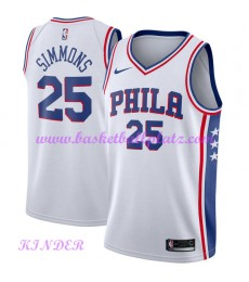 Philadelphia 76ers NBA Trikot Kinder 2018-19 Ben Simmons 25# Association Edition Basketball Trikots ..