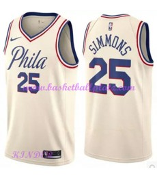 Philadelphia 76ers NBA Trikot Kinder 2018-19 Ben Simmons 25# City Edition Basketball Trikots Swingma..
