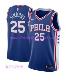 Philadelphia 76ers NBA Trikot Kinder 2018-19 Ben Simmons 25# Icon Edition Basketball Trikots Swingma..