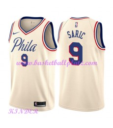 Philadelphia 76ers NBA Trikot Kinder 2018-19 Dario Saric 9# City Edition Basketball Trikots Swingman..