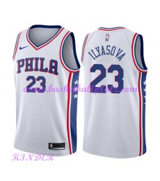 Philadelphia 76ers NBA Trikot Kinder 2018-19 Ersan Ilyasova 23# Association Edition Basketball Triko..
