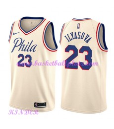 Philadelphia 76ers NBA Trikot Kinder 2018-19 Ersan Ilyasova 23# City Edition Basketball Trikots Swin..