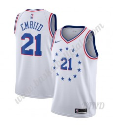 Philadelphia 76ers Trikot Kinder 2019-20 Joel Embiid 21# Earned Edition NBA Trikots Swingman..