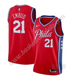 Philadelphia 76ers Trikot Kinder 2019-20 Joel Embiid 21# Rot Finished Statement Edition NBA Trikots ..