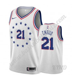 Philadelphia 76ers Trikot Kinder 2019-20 Joel Embiid 21# Grau Earned Edition NBA Trikots Swingman..