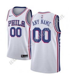 Philadelphia 76ers Trikot Herren 2018-19 Association Edition Basketball Trikots NBA Swingman..