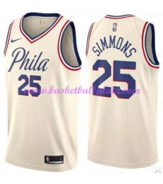 Philadelphia 76ers Trikot Herren 2018-19 Ben Simmons 25# City Edition Basketball Trikots NBA Swingma..