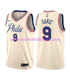 Philadelphia 76ers Trikot Herren 2018-19 Dario Saric 9# City Edition Basketball Trikots NBA Swingman..