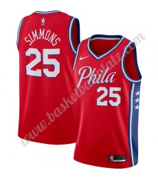 Philadelphia 76ers Trikot Herren 2019-20 Ben Simmons 25# Rot Finished Statement Edition Basketball T..