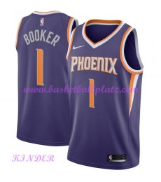 Phoenix Suns NBA Trikot Kinder 2018-19 Devin Booker 1# Icon Edition Basketball Trikots Swingman..