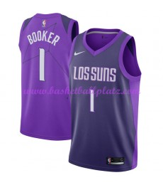 Phoenix Suns Trikot Herren 2018-19 Devin Booker 1# City Edition Basketball Trikots NBA Swingman..
