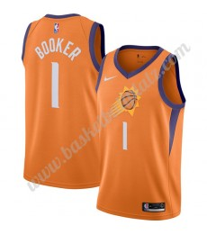 Phoenix Suns Trikot Herren 2019-20 Devin Booker 1# Orange Finished Statement Edition Basketball Trik..