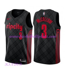 Portland Trail Blazers NBA Trikot Kinder 2018-19 C.J. McCollum 3# City Edition Basketball Trikots Sw..