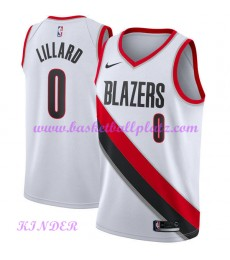 Portland Trail Blazers NBA Trikot Kinder 2018-19 Damian Lillard 0# Association Edition Basketball Trikots Swingman