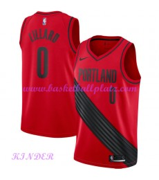 Portland Trail Blazers NBA Trikot Kinder 2018-19 Damian Lillard 0# Statement Edition Basketball Trikots Swingman
