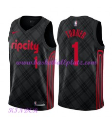 Portland Trail Blazers NBA Trikot Kinder 2018-19 Evan Turner 1# City Edition Basketball Trikots Swin..