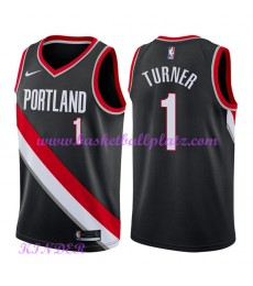 Portland Trail Blazers NBA Trikot Kinder 2018-19 Evan Turner 1# Icon Edition Basketball Trikots Swin..