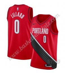 Portland Trail Blazers Trikot Kinder 2019-20 Damian Lillard 0# Rot Finished Statement Edition NBA Tr..