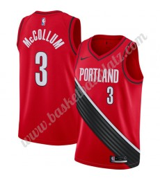 Portland Trail Blazers Trikot Herren 2019-20 C.J. McCollum 3# Rot Finished Statement Edition Basketb..