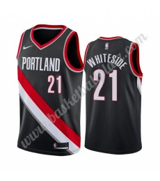 Portland Trail Blazers Trikot Herren 2019-20 Hassan Whiteside 21# Schwarz Icon Edition Basketball Tr..