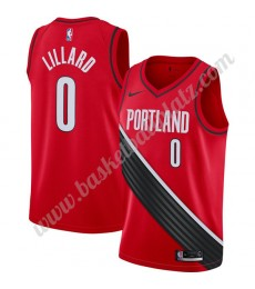 Portland Trail Blazers Trikot Herren 2019-20 Damian Lillard 0# Rot Finished Statement Edition Basket..